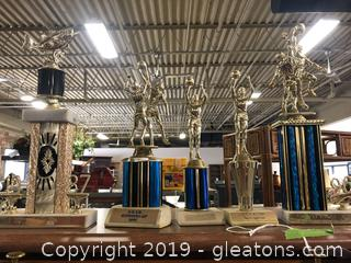 Lot 14 Shelf #1 Lot Of Trophies