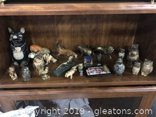 Lot K Shelf #4 Assortment Of Vintage Banks And Collectibles