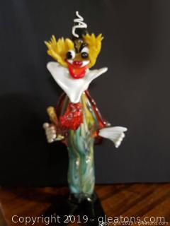 Murano Blown Glass Clown Broken Pieces