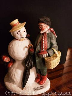 Norman Rockwell Grandpa Snowman Figurine