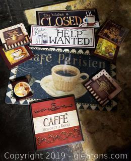 "Lot Of ""Cafe"" Kitchen Decor"