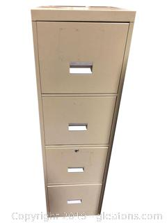 (4) Drawer Metal File Cabinet