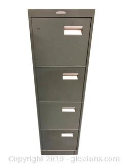 (4) Drawer Metal File Cabinet By Enrox With File Folders/Photo Paper/Etc