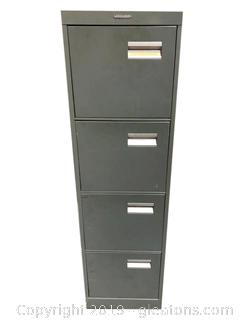 (4) Drawer Metal File Cabinet By: Statesman
