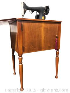 Vintage Singer Cabinet Sewing Machine