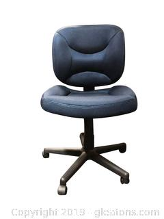 Very Nice Navy Blue Armless Computer/Desk Chair