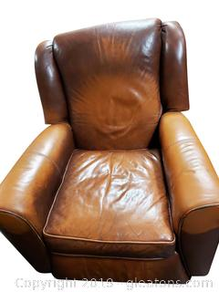 Bara Lounger Leather Recliner Camel Color/Leather Master