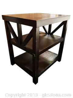 Small (2) Tier Oxford Side Table/End Table Espresso Finish