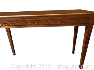 Hand Carved Heckman Foyer Table