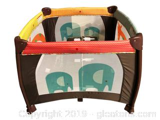 Gently Used Baby With Bottom pad Playpen Folding/Portable