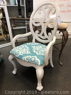 Beautiful Decorator CHair Newly Upholstered