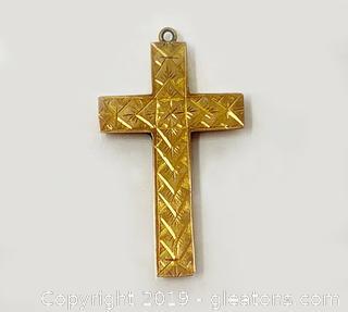 18k Gold Cross Pendant