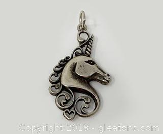 Unicorn Pendant Sterling