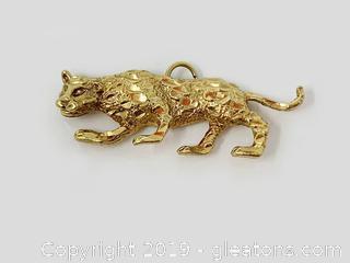 18k Gold Jaguar Pendant
