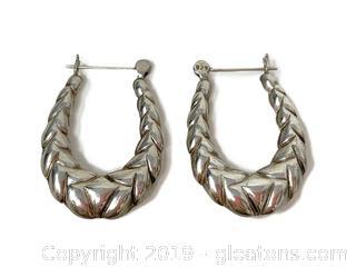 Sterling Hoop Earrings, Lot A