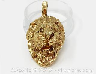 Lion's Head Pendant 18k Gold