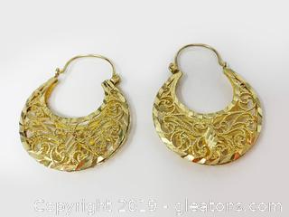 18kt Gold Hoop Earrings
