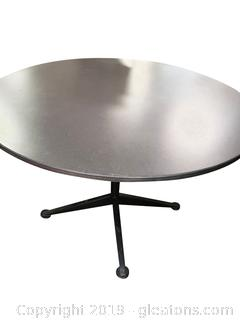 Laminate Top Table Metal Base