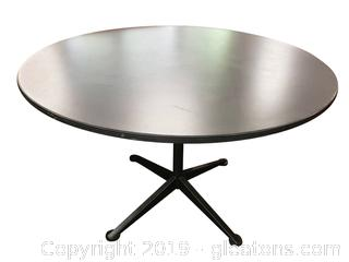 """42"""" Laminate Top Table With Metal Base"""