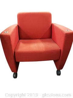 Rolling Fabric Accent Chair/Office