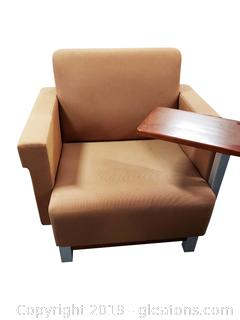 Contemporary Style Office Chair With Side Table
