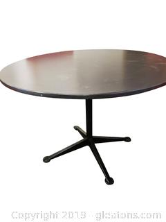 """42"""" Wide Laminate Top Table With Metal Base"""