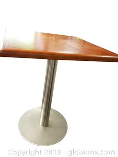 """Small """"Loewenstein"""" Square Office Table Stainless Base"""