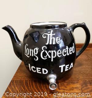 "Tea Kettle ""The Long Expected Iced Tea"" Drink Dispenser"