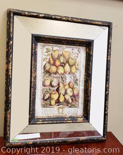 Mirrored Framed Fruit Wall Art