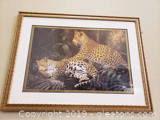 2 Leaopard Animal Print Home Wall Decor