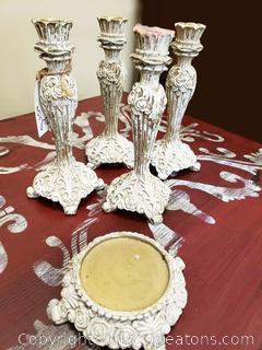 Assortment Of Candle Holders (5) Pcs