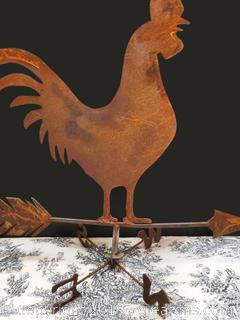 Rustic Weather Vtg. iron Sheet Style Folk Art Rooster