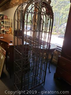 Large Decorative Metal Iron Wine Rack