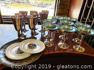 "Lot Of ""Plator"" Made In Spain Set of Stemware"