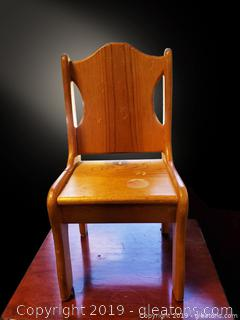 Small Wooden Child's Chair