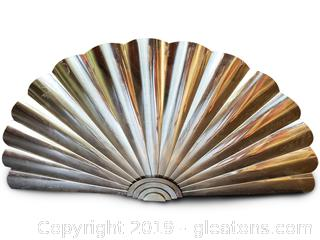 Large Brass Wall Decorative Fan