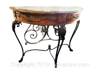 Decorative Metal Legs With Marble Insert On Top