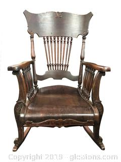 Numbered Antique Rocking Chair