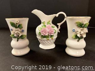 Capodimonte Style Small Vases