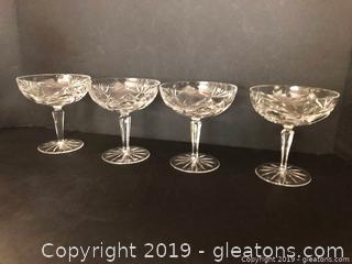 High End Crystal Champagne Glasses