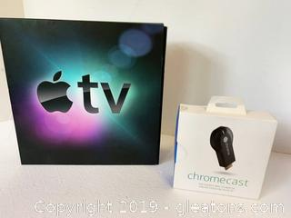 Apple Tv and Google Chrome Cast