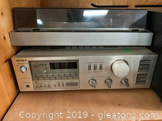 Vintage Sony Stereo and MCS Turntable