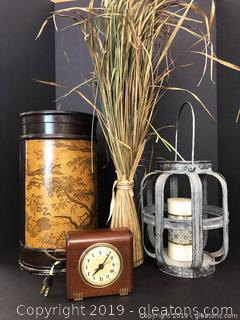Seth Thomas Clock And Home Decor Lot