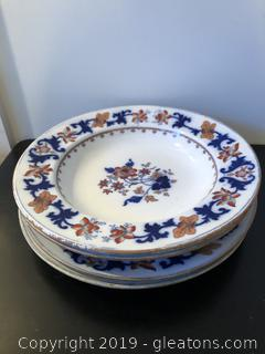 Antique Stone Ware plates and bowls