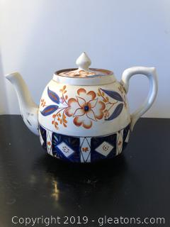 Antique Imari Clay Teapot