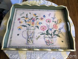 Large Painted Serving Tray