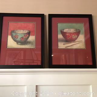 Pair of Oriental Rice Bowl Prints