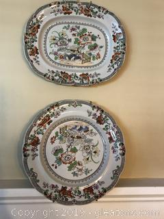Pair of   Stoneware Plates