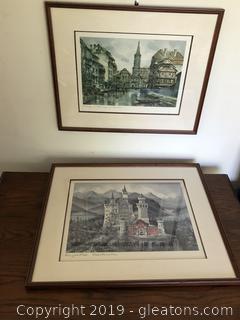 Pair of Europen Prints