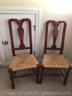 Antique Mom and Pop Cane Side Chairs